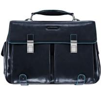 Blue Square Aktentasche Leder 43 cm Laptopfach nachtblau
