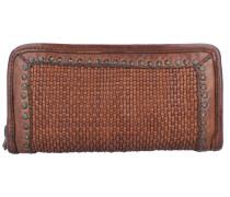 Geldbörse Leder 21 cm cognac