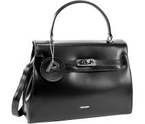 Berlin Handtasche Leder 29 cm schwarz