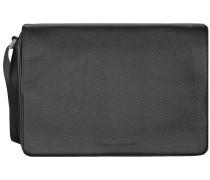Cervo 2.0 ShoulderBag MFH Messenger Tasche Leder 35 cm Laptopfach black