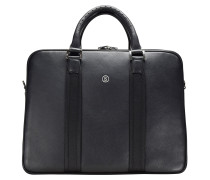 New Official Taras Aktentasche Leder 42 cm Laptopfach black