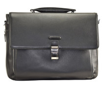 Modus Aktentasche Leder 41 cm Laptopfach black