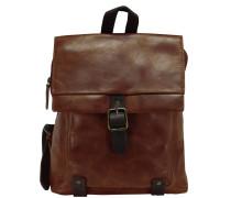 Stag Rucksack Leder 32 cm brown