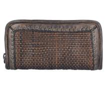 Geldbörse Leder 21 cm grey
