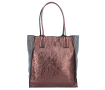 Shopper Tasche Leder 29 cm bordeaux antracite