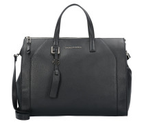 Muse Handtasche Leder 38 cm Laptopfach black