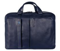 Pulse Aktentasche Leder 41 cm Laptopfach midnight blue