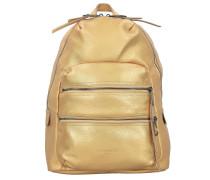 SakuS7 Rucksack Leder 40 cm Laptopfach gold
