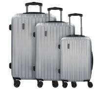 Lima 2.0 FL 4-Rollen Kofferset 3tlg mit Doppelrollen silberfarben