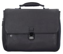 Black Square Aktentasche Leder 40 cm Laptopfach dunkelbraun