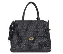 Handtasche Leder 42 cm nero