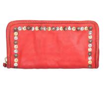 Santorini Geldbörse Leder 20 cm rosso