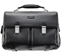 Modus Aktentasche Leder 43 cm Laptopfach schwarz