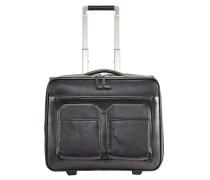 Modus 2-Rollen Businesstrolley Leder 44 cm Laptopfach black