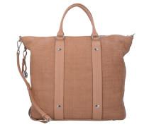 Capri Elka Shopper Tasche Leder 46 cm sand