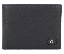 Northern Light Geldbörse Leder 12 cm schwarz