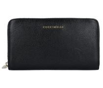 Vitello Geldbörse Leder 18 cm noir