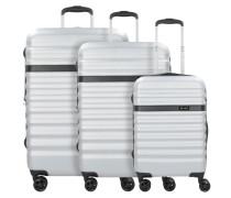 Corium 4-Rollen Kofferset 3tlg. silberfarben
