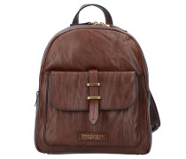 Rimbaud City Rucksack Leder 30 cm marrone