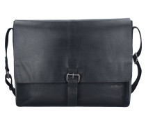 Scott Messenger Tasche Leder 39 cm Laptopfach black