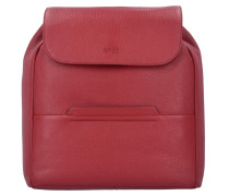 Faro 4 City Rucksack Leder 37 cm brick red