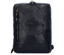 Traditional City Rucksack Leder 35 cm nero2
