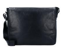 Cambridge Messenger Leder 38 cm Laptopfach schwarz