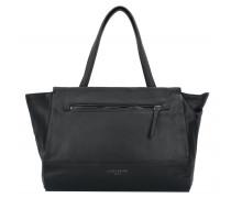 Abaco Shopper Tasche Leder 36 cm black
