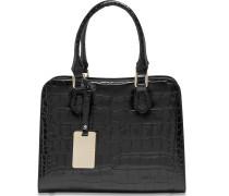 Weimar Handtasche Leder 27 cm schwarz