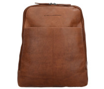 Dex Rucksack Leder 39 cm Laptopfach cognac