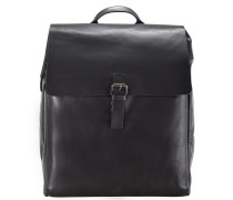 Scott Rucksack Leder 40 cm Laptopfach black