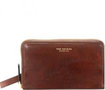 Jade Geldbörse Leder 18 cm marrone