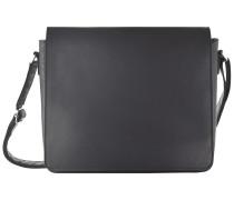 Futura Umhängetasche M Leder 32 cm Laptopfach schwarz