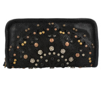 Portafoglio Geldbörse Leder 20 cm nero