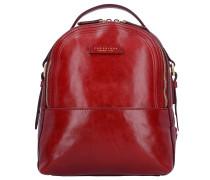 Pearldistrict Rucksack Leder 32 cm red currant