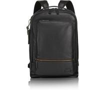Harrison Bates Rucksack Leder 42 cm Laptopfach black pebbled