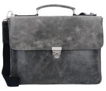 Boston Aktentasche Leder 39 cm Laptopfach grau