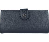 Diadora Geldbörse Leder 19 cm black