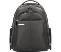 X2 Businessrucksack Leder 44 cm Laptopfach