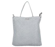 Shopper Tasche Leder 40 cm grigio