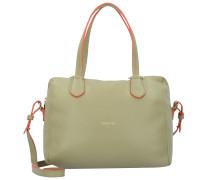 Borsa Handtasche Leder 27 cm dailygreen\deeporang