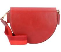 DXBag Schultertasche Leder 22 cm italian red
