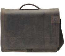Richmond Messenger BriefBag XL Leder 41 cm Laptopfach dark brown