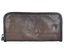 Carry Over Geldbörse Leder 20 cm grigio