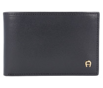 Daily Basis Geldbörse Leder 10,2 cm schwarz