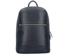 Rough Rucksack Leder 41 cm Laptopfach schwarz