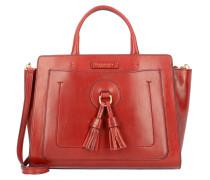Santacroce II Handtasche Leder 35 cm rosso ribes abb.oro