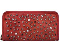 Portafoglio Geldbörse Leder 20.5 cm rosso