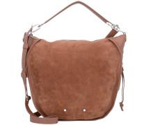 Saddy Suede Handtasche Leder 25 cm