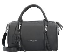 SaraS Handtasche Leder 32 cm black